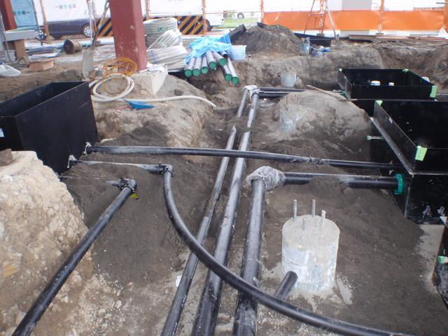 埋設配管工事を施工